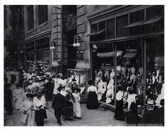 Gilded Age NYC, Henry Siegel's Department Store  c.1900. Part of the Ladies Mile, at 14th Street and 6th Ave., NYC.
