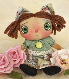 Handmade Teddy Bears and Raggedies: Sweetly Freckled Handmade Raggedy Ann Type Doll