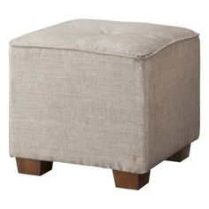 """$60 Dimensions: 14.0 """" H x 16.0 """" W x 16.0 """" D Weight: 8.2 Lb. Bedroom Ottoman, Upholstered Ottoman, Girls Apartment, Living Room Update, Find Furniture, Home Accessories, Interior Decorating, Beige, Chair"""