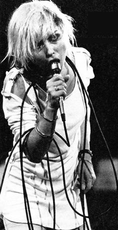 Debbie Harry on stage, 1978.