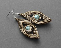 jajica / Medeno-zlaté slzy Swarovski, Drop Earrings, Handmade, Jewelry, Fashion, Shoes Sandals, Moda, Hand Made, Jewlery