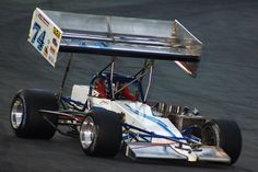 """Johnny Benson Jr. in His (#74) Super Modified, Winning at the """"Race Against Cancer"""" ISMA 100, Seekonk (Massachusetts) Speedway."""