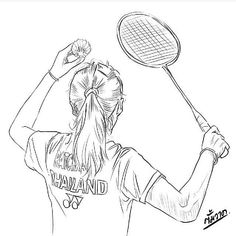 Badminton Drawing Sketch - Playing Badminton Sport Badminton Pictures Badminton Badminton Draw Images Stock Photos Vectors Shutterstock Badminton Sports Sketch Sports Drawings B. Badminton Sport, Badminton Racket, Badminton Smash, Badminton Logo, Sports Art, Kids Sports, Badminton Pictures, Tennis Drawing, Sports Drawings