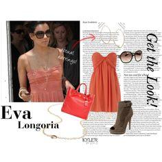 Street Style - Eva Longoria, created by kylerecojewelry on Polyvore : eco modern jewelry