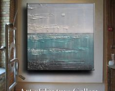 Abstract Painting 30 x 40 Large Texture Modern by artoftexture