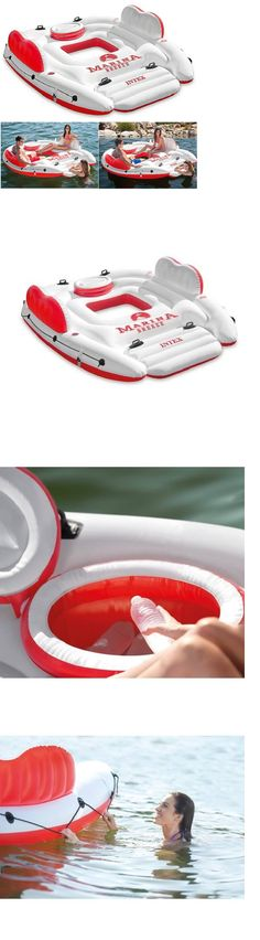 Inflatable Floats and Tubes 79801: 4 Person Inflatable Floating Island Pool Lake Water Party Lounge Raft Float -> BUY IT NOW ONLY: $75.98 on eBay!