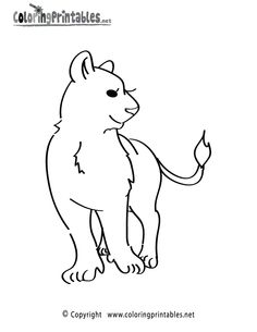 Girl Lioness Coloring Page Printable.