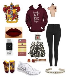 """""""Muggle study's"""" by ariannatlove on Polyvore featuring Topshop, Static Nails, NIKE and Casetify"""