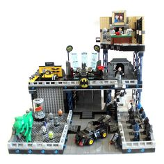 Lego Batcave MOC including sticker designs!