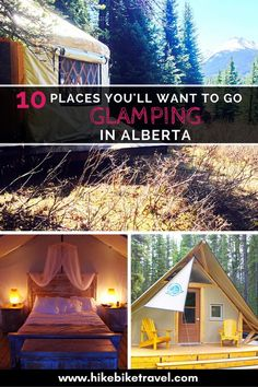 10 Places You'll Want to go Glamping in Alberta – North America travel - Travel Destinations Camping Places, Places To Travel, Camping Tips, Camping Jokes, Backpacking Meals, Kayak Camping, Ultralight Backpacking, Alberta Travel, Banff Alberta