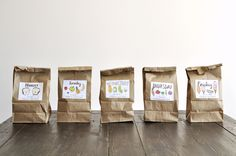 Oh So Beautiful Paper: Hello!Lucky: Printable Lunch Bag Labels /kids lunches
