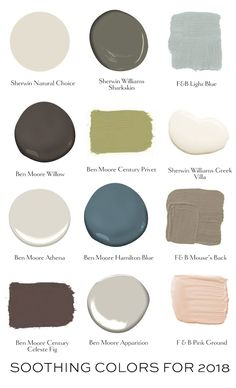 A Soothing Palette for 2018