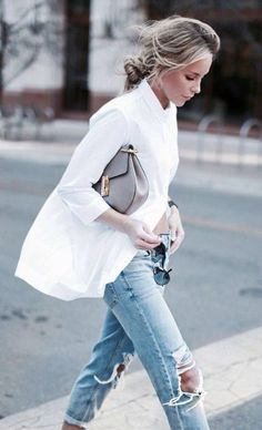 styling inspiration for the classic white button down