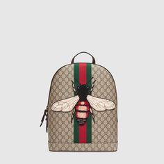 e564257cbf3 Gucci Web Animalier backpack with bee