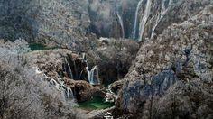 waterfalls croatia's plitvice in winter | Country: United States United Kingdom Deutsch Canada Australia France ...