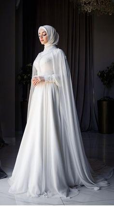 Silver Wedding Gowns, Muslim Wedding Gown, Queen Wedding Dress, Muslimah Wedding Dress, Wedding Dress Sleeves, Princess Wedding Dresses, Dream Wedding Dresses, Bridal Dresses, Bridesmaid Dresses