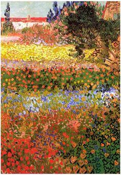 Vincent Van Gogh Flowering Garden Art Print Poster Prints at AllPosters.com