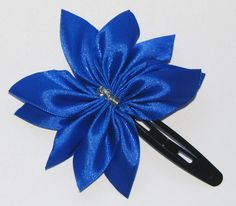 Blue Ribbon hairclip Blue Ribbon, Hair Clips, Shabby, Handmade, Accessories, Fashion, Hair Rods, Moda, Fasion
