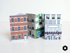 Imprimible libretitas inspiradas en edificios // Les Nanocarnets n°4 : Rue Panoramique (free printable)