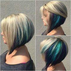 Cream n peacock hair
