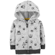 Baby Boy Monster Jacket from OshKosh B'gosh. Shop clothing & accessories from a trusted name in kids, toddlers, and baby clothes. Baby Outfits, Toddler Outfits, Kids Outfits, Boys Summer Dress Clothes, Oshkosh Baby, Teenage Guys, Summer Boy, Boys Hoodies, Kids Wear