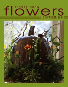 Flower Show FLOWERS  10 OCTOBER 2015… A Year in Flowers PLANT LIST: Painted Pumpkin with garden Flowers www.flowershowflowers.com