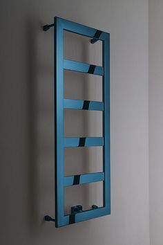 Unique blue chrome towel warmer in brushed or polished finish. Exclusive high quality blue chrome design manufactured in Europe. New Bathroom Designs, Modern Bathroom Design, Bathroom Ideas, Towel Radiator, Radiator Cover, Bathroom Towel Rails, Modern Bathtub, Bathroom Installation, Towel Warmer
