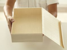 Collapsible Box with Attached Lid - Large Rectangle
