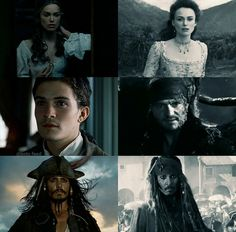 Elizabeth Swan, Will Turner, and Jack Sparrow| The Curse Of The Black Pearl and Dead Men Tell No Tales| Pirates of the Caribbean