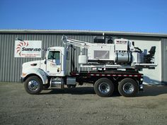 2014 Peterbilt 348 with a Terex Texoma 330-12 pressure digger auger drill.  This unit is in our yard and ready for sale, rent, or rent to purchase.  Full factory warranty on the Peterbilt.  Great looking and great working machine!  http://www.sunriseequipment.com/peterbilt-348-3703