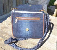 861ba8b35ace Женские сумки ручной работы. Заказать Джинсовая сумка через плечо. Liamer.  Ярмарка Мастеров. Тёмно-синий, хлопок 100%