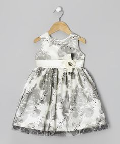 Take a look at this Cream & Black Rose Dress - Toddler & Girls by Jayne Copeland on #zulily today!