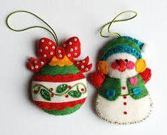 Image result for folk art christmas felt ornaments