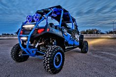 """2013 Polaris Jagged X Ranger RZR XP - Over 100"""" of Rigid Industries light bars - MotoClaw bead locker wheels and tires from Colorado Components - Audio system from Wet Sounds - Built by Woods Cycle Country in New Braunfels, TX"""