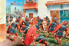 The legionaries of Pompey break into the town of Valencia in Spain in 75 BC, held by men loyal to Sertorius.