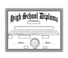 Free High School Diploma Templates New 30 Real & Fake Diploma Templates High School College Certificate Of Achievement Template, Free Certificate Templates, School Certificate, Homeschool Diploma, Homeschool High School, Homeschooling, Free High School Diploma, Doctors Note Template, High School Transcript