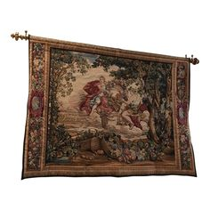 Made in Belgium and bought in Backed with lining for tunnel and easy hanging. no hardware Rock Album Covers, French Walls, Textile Fabrics, Fall Harvest, Wall Tapestry, Needlepoint, Belgium, Bohemian Rug, Vintage World Maps