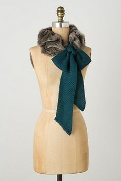 #Anthropologie Plush Stole - this would be an insanely easy DIY!: