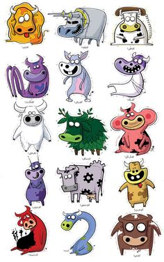 Funny cows on Behance