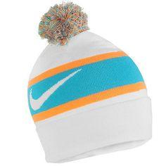 Nike KD 8 Knit Pom Beanie Mens 778240-100 White Blue Lagoon Durant Acrylic  Hat