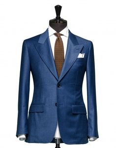 Tailored 2-Piece Suit - Fabric 4324 Check Blue