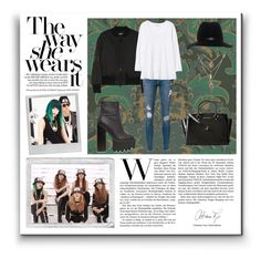 """""""Get The Look: Ji-Yoon (4minute)"""" by svga-kookie ❤ liked on Polyvore featuring Cole & Son, DKNY, Frame Denim, Rebecca Taylor, Jeffrey Campbell, MICHAEL Michael Kors, rag & bone and Polaroid"""