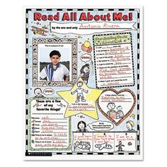 "Amazon.com: Instant Personal Poster Sets, Read All About Me, 17"" x 22"", 30/Pack - SHS0439152852: Kitchen & Dining"