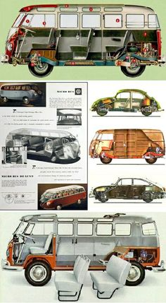 Vistas fantasmas VW typs 1, 2 y 3