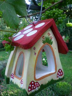 Bird Houses Diy, Fairy Houses, Carpentry Projects, Farm Gardens, Artisanal, Yard Art, Diy Painting, Bird Feeders, Wood Crafts