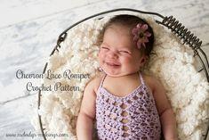 Chevron Lace Romper Crochet Pattern