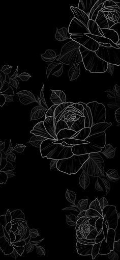 Black Flowers Wallpaper, Beautiful Wallpaper For Phone, Future Wallpaper, Cute Black Wallpaper, Black Aesthetic Wallpaper, Rose Wallpaper, Aesthetic Iphone Wallpaper, Back Wallpaper, Dark Phone Wallpapers