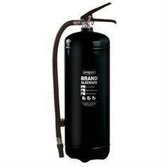 Black fire extinguisher