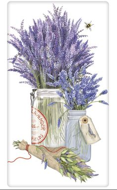 Mary Lake-Thompson Herb Jar-Lavender Bagged Towel
