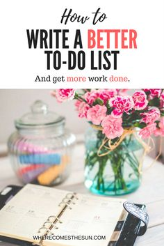   How to write a better to-do list   How to be more productive   How to get more work done   productivity tips   Productivity tools   Time management tips   Time management habits   How to write your best to-do list and get more work done   #productive #beingproductive #productivity #productivitytips #productivityhacks